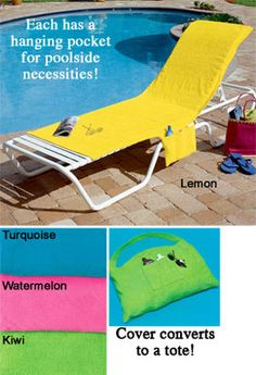 Tanning Chair Towel With Pockets