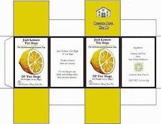 miniature printable box of lemon cookies - original image missing