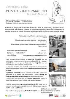 Cartel convocatoria del Concurso de Ideas para el diseño de un punto de información en madera para Galicia. REFUGIO EN PERSPECTIVA, Concurso de Arquitectura.