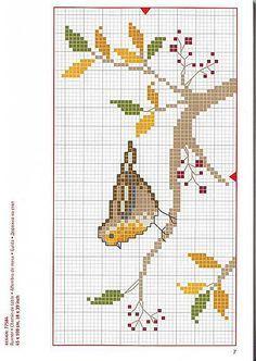 Cross Stitch Bird, Beaded Cross Stitch, Cross Stitch Borders, Cross Stitch Animals, Cross Stitch Flowers, Cross Stitch Charts, Cross Stitch Designs, Cross Stitching, Cross Stitch Embroidery