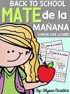 2nd grade Back to School Morning Work in SPANISH! Trabajo de la mañana para el 2o grado en español!