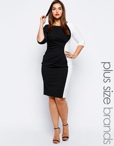 I love this. Great transition piece, easily goes from work to drinks. Lipstick Boutique Plus Contrast Panel Dress
