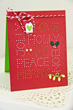 Christmas Word Collage Card by Erin Lincoln for Papertrey Ink (September 2014)