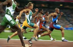 2000 Olympic Games - 100m Sprint Finals - DWF15-405781 - Rights Managed - Stock Photo - Corbis