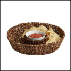 """Our Abaca 13-inch Round Chip & Dip is the perfect solution for both indoor and outdoor entertaining. Handcrafted Abaca items are 100% environmentally friendly.   Handmade in the Philippines  Size: 13"""" x 13"""" x 3"""""""