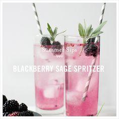 blackberry sage spritzer