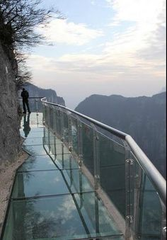 Tyanmen Mountain in China - glass walking paths built around the cliffs!♥♥♥