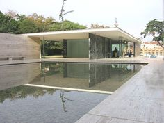 How visionary were the Modernists?  Mies van der Rohe did the Barcelona Pavilion in 1929...