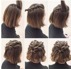 Frisuren fr kurze haare halber pferdeschwanz geflochten halo braided crown braid with hairtenders signature sew in weave individual br braid braided crown hairtenders halo individual sew signature weave individual braids with weave Daily Hairstyles, Cute Hairstyles For Short Hair, Short Haircuts, Beautiful Hairstyles, Trendy Hairstyles, Hairstyles Haircuts, Black Hairstyles, Medium Hairstyles, Homecoming Hairstyles Short Hair