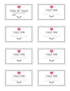 Imprimible: vales para san valentín