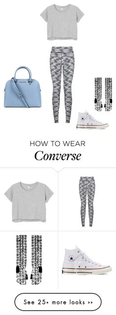 """""""Work days"""" by jessymutton on Polyvore featuring Monki, Michael Kors and Converse"""