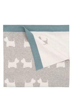 'Dog' Knit Blanket