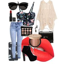 Edgy Summer ☆ by georgiaa27 on Polyvore featuring polyvore fashion style MANGO New Look Mackage Banana Republic Yves Saint Laurent Bobbi Brown Cosmetics Lime Crime