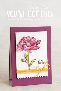 By Teneale Williams   Stampin' Up! Demonstrator Australia   You're Got This Stamp Set