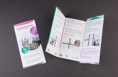 Leaflet design - cover and inside spread