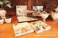 Edles für die Tisch Dekoration in Weiß-Silber mit Rosen