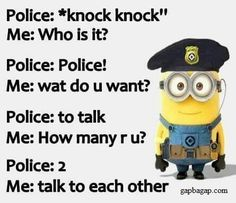 If you love Minion then this collection are for you.Scroll down and keep enjoying you lovely and faverut Minions Jokes. Real Funny Jokes, Funny Minion Memes, Funny True Quotes, Really Funny Memes, Minions Quotes, Stupid Memes, Funny Relatable Memes, Haha Funny, Funny Facts