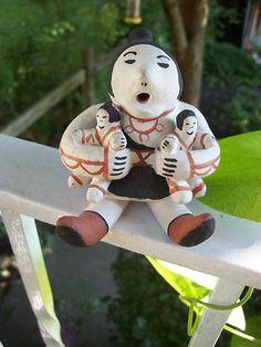 Rufina Trujillo   Cochiti Pueblo Pottery Storyteller TWO Babies
