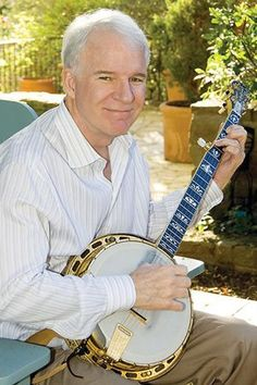 actor/bluegrass musician Steve Martin, This man can play a banjo with the very best of them. Unreal.
