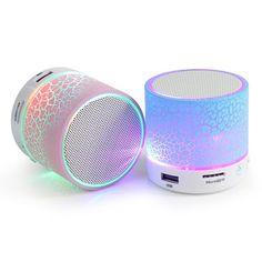 Fashion LED Mini Wireless Bluetooth Speaker Portable Musical Audio Loudspeakers Hand-free Call For Highscreen Zera S Power
