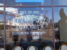 Thank you Los Angeles for 10 years @SusinaBakery!