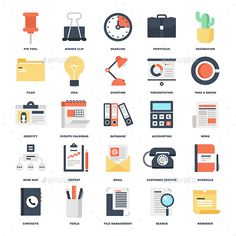 Office Icons — JPG Image #monitoring #statistics • Available here → https://graphicriver.net/item/office-icons/10597422?ref=pxcr