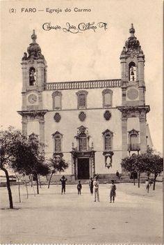 Faro : Igreja do Carmo Algarve, Old Photos, Vintage Photos, Portugal, Portuguese, History, Building, Travel, Style
