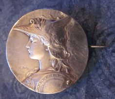 1895 French Sterling Silver Pin