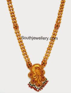 gold haram cum vaddanam  Gold Weight: 38 grams Necklace length with pendant: 20 inches