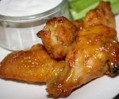 Slow cooker honey-mustard chicken wings.Delicious chicken wings cooked in slow cooker.