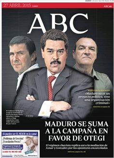 Diario ABC de 27 Abril 2015 y recordamos que pueden visualizar cada día los principales titulares en http://www.youtube.com/vendopor