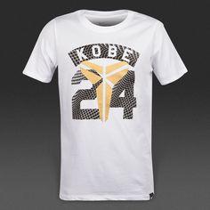 new styles 48cf5 6f720 Nike Los Angeles Lakers Legend Kobe Bryant  24 Boys White Dri-Fit T-Shirt  NWT XL  Nike  WorkoutBasketballDressyEverydayHoliday  LosAngelesLakers