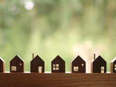 ちいさな木の家 3個セット - usagi works