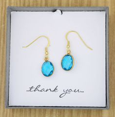 Genuine Blue Topaz Semiprecious Gemstone Drop by ThePinkLamShop
