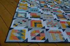 how to make simple modern sampler quilt,