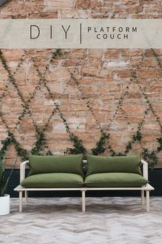 Find out how to build this DIY Platform Couch Tutorial that will be durable enough to have outside, but beautiful enough to be inside! • Vintage Revivals