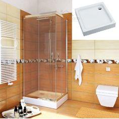 Duschwanne Duschtasse Viereck Sitz 80 x 80 x 42 x 26 cm tief Überlauf Dusche