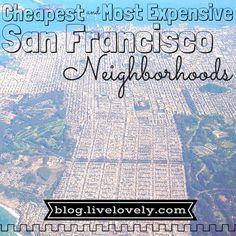 Everyone knows that San Francisco is one of the most expensive cities to live in. However, do you know which neighborhoods are more affordable than others? Check out Lovely's breakdown of the cheapest and most expensive neighborhoods to rent in SF.