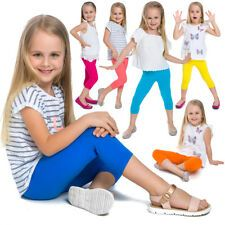 Children Cropped Leggings Comfy Colorful Cotton Capri Kids 3/4 Pants Age 2-13 Leggings Party, Girls Leggings, Tight Leggings, Kid Capri, Kids Pants, Cotton Leggings, Kids Girls, Casual Wear, Girl Outfits