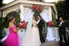 Rose Court Garden wedding ceremony at the Disneyland Hotel