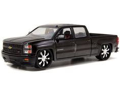 2014 Chevrolet Silverado Just Trucks Pick Up schwarz 1:24 Jada Toys 97026 Chevy…