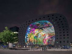 Horn of Plenty, Markthal Rotterdam. 11000 m2 artwork (2014). Artists: Arno Coenen and Iris Roskam. In cooperation with MVRDV and Corio. Advisor and producer: Mothership.