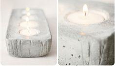 Beton Kerzen selber basteln