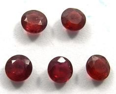 3.55Ct Wholesale Lot Lab Created Ruby Corundum 5mm Round Silver Jewelry Gemstone #magicalcollection #gemstones #jewelry