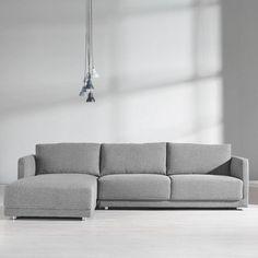 Modernes Sofa In Grau   Geradlinige Optik Und Bequemer Komfort