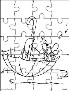 printable jigsaw puzzles to cut out for kids winnie the pooh 25 coloring pages