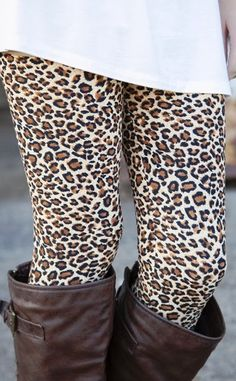 Adorable cheetah or leopard print leggings