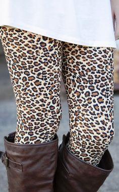 Adorable cheetah or leopard print leggings