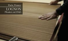 The first instalment of BoF's three-part video series 'Inside Paraffection' takes you inside Lognon, a savoir-faire maison that creates intricate pleats for fashion's greatest houses. Fabric Manipulation Techniques, Textiles Techniques, Embroidery Techniques, Types Of Pleats, Morning Pages, Creative Textiles, Famous Names, Lesage, Pleated Fabric