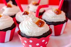 Coca Cola Cupcakes Coca Cola Cupcakes, Muffins, Desserts, Food, Tailgate Desserts, Muffin, Deserts, Essen, Postres
